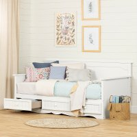11685 Cottage White Daybed with 3 Storage Drawers - Savannah