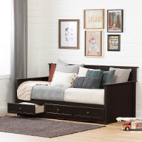 11686 Cottage Brown Daybed with 3 Storage Drawers - Savannah