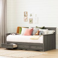 11687 Cottage Gray Daybed with 3 Storage Drawers - Savannah