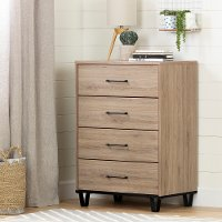 11025 Industrial Modern Rustic Oak Chest of Drawers - Fakto
