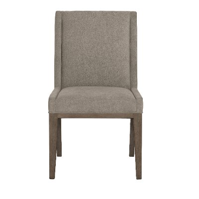 Contemporary Charcoal Gray Upholstered Dining Chair - Linea