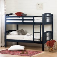 11820 Cottage Navy Blue Twin-over-Twin Bunk Bed - Summer Breeze