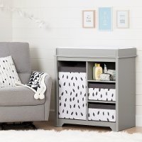 10541 Classic Soft Gray Changing Table with Baskets - Vito