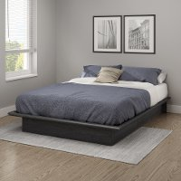 10441 Contemporary Gray Oak Full Platform Bed - Step One