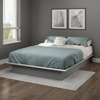 10439 Contemporary Soft Gray Full Platform Bed - Step One