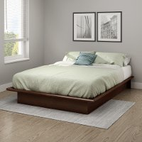10437 Contemporary Cherry Full Platform Bed - Step One