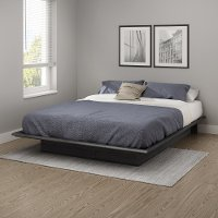 10440 Contemporary Gray Oak Queen Platform Bed - Step One