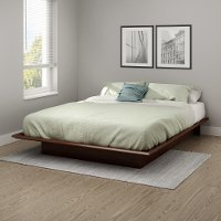 10436 Contemporary Cherry Queen Platform Bed - Step One