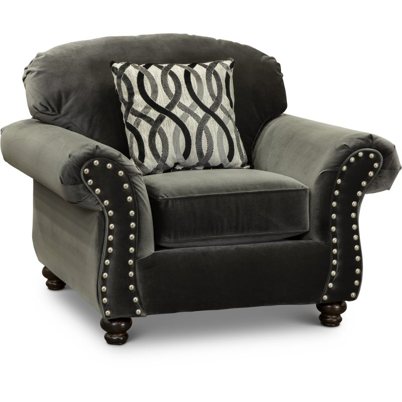 Delicieux Traditional Mocha Gray Chair   Richmond
