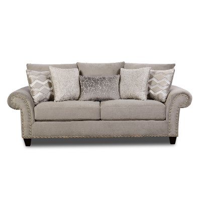 Traditional Platinum Gray Sofa - Camino