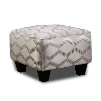 Traditional Platinum Accent Ottoman - Camino