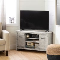 11888 Seaside Pine 40 Inch Corner TV Stand - Exhibit