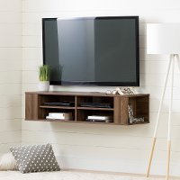 11962 Natural Walnut 48 Inch Wall Mounted Media Console - City Life
