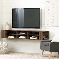 11963 Natural Walnut 66 Inch Wall Mounted TV Stand - City Life