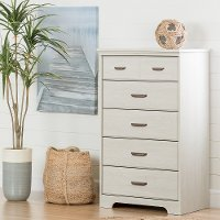 11295 White 5-Drawer Chest - Versa