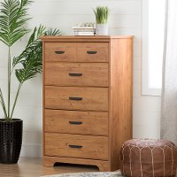 11302 Country Brown 5 Drawer Chest - Versa