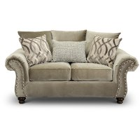 Traditional Taupe Loveseat - Richmond