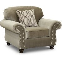Traditional Taupe Chair - Richmond