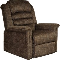 Chocolate Brown Power Reclining Lift Chair with Heat and Massage - Soother