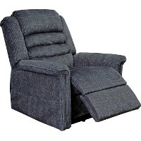 Smoke Gray Power Reclining Lift Chair with Heat and Massage - Soother