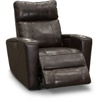 Brown Leather-Match Triple Power Theater Recliner - Carter