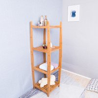 Natural Bamboo Tower Shelf