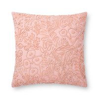Rose Pink Cotton Throw Pillow