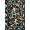 5 x 8 Medium Black Autumn Flower Area Rug - Les Fleurs