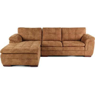 Taupe Brown 2 Piece Sectional Sofa with LAF Chaise - Sandy