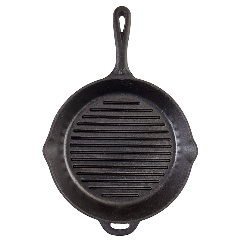 Camp Chef 12 Inch Cast Iron Skillet with Ribs