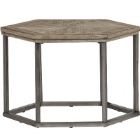 Contemporary Ash Hexagon Cocktail Table - Addison Cove