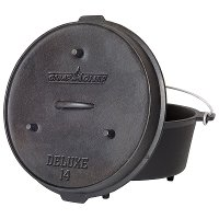 DO14 Camp Chef 12 Quart Deluxe 14 Inch Dutch Oven- Cast Iron