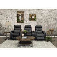 Black 3 Piece Power Home Theater Seating - Cinema