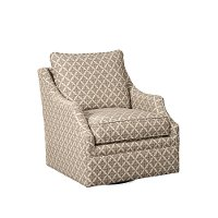Traditional Taupe and Beige Swivel Glider - Swift
