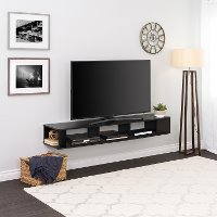 70 Inch Wall Mount Black TV Stand
