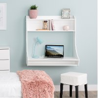 Small Wall Mount White Desk