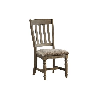 Roasted Oak Slat Back Upholstered Dining Chair - Balboa Park