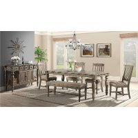 Roasted Oak 6 Piece Dining Set - Balboa Park