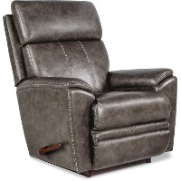 P1M-754/LB159053 Gray Rocker Recliner with Massage and Heat - Talladega