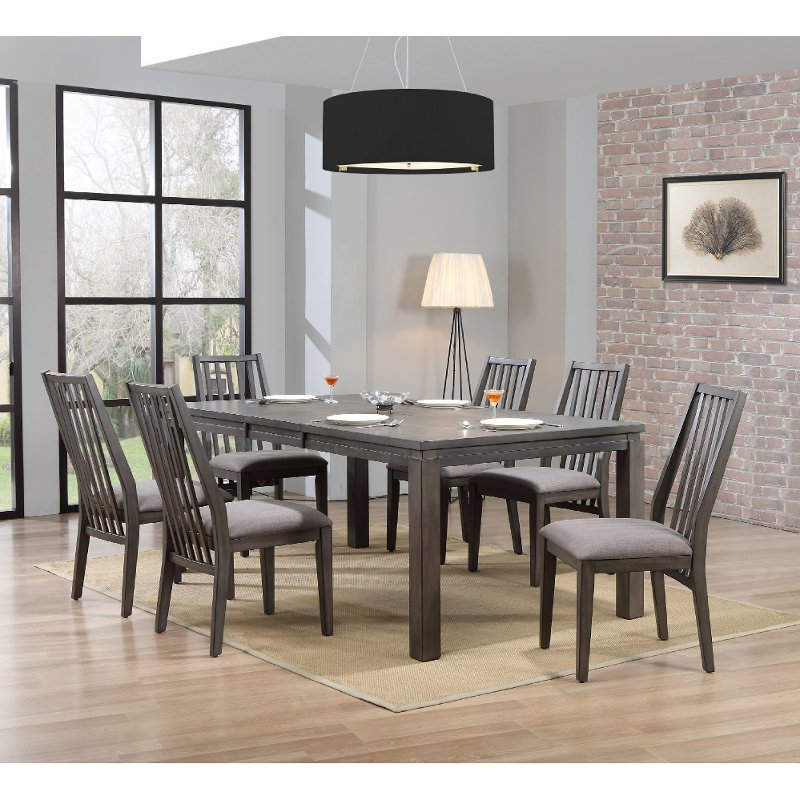 Contemporary Gray 7 Piece Dining Set