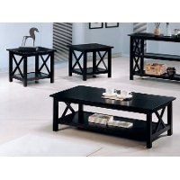 Merlot Brown 3 Piece Coffee and End Table Set