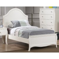 French Country White Twin Bed - Chase