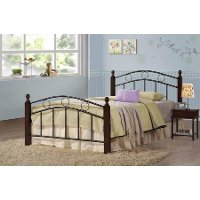 Classic Merlot and Black Twin Metal Bed - Greenbelt