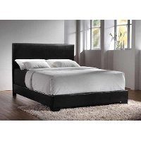 Black Twin Upholstered Platform Bed - Westfield