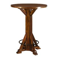 Chestnut Brown Wood Bar Table - Amber