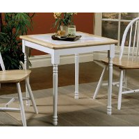 Country Natural and White Dining Table - Agostino