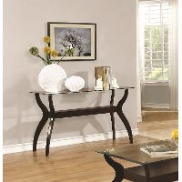 Casual Glass Top Sofa Table - Cooper