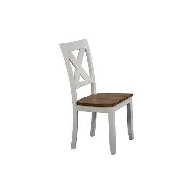 White and Brown Dining Room Chair - Pacifica