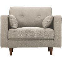 Mid Century Modern Taupe Gray Chair - Tacoma