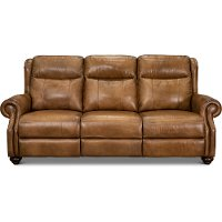 Toffee Brown Leather Reclining